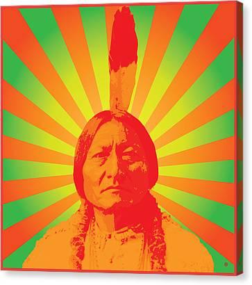 Sitting Bull Canvas Print by Gary Grayson