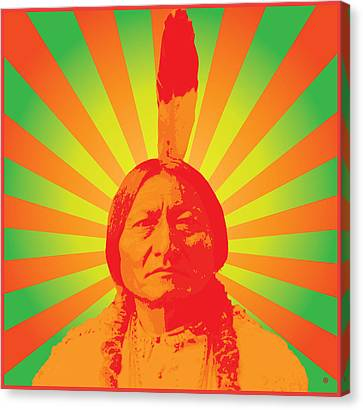 Sitting Bull Canvas Print by Gary Grayson