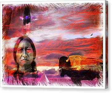 Sitting Bull Canvas Print by Mal Bray