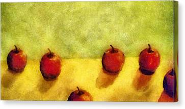 Six Apples Canvas Print by Michelle Calkins