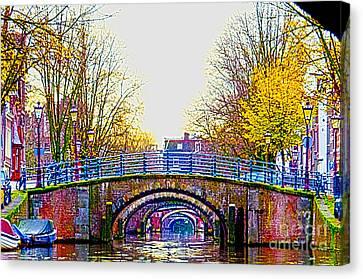 Six Bridges Canvas Print by Pravine Chester