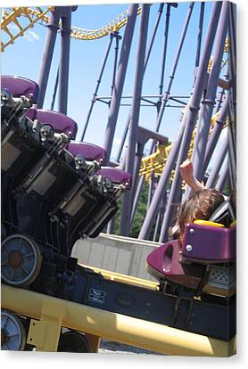 Six Flags America - Batwing Roller Coaster - 12124 Canvas Print by DC Photographer