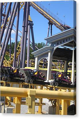 Six Flags America - Batwing Roller Coaster - 12125 Canvas Print by DC Photographer