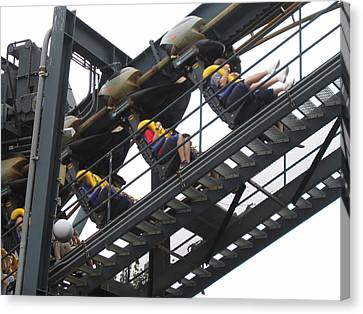 Six Flags Great Adventure - Medusa Roller Coaster - 12123 Canvas Print by DC Photographer