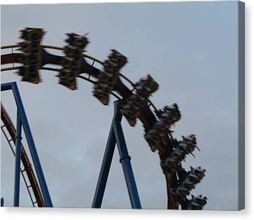 Six Flags Great Adventure - Medusa Roller Coaster - 12126 Canvas Print by DC Photographer