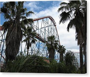 Six Flags Magic Mountain - 12129 Canvas Print by DC Photographer