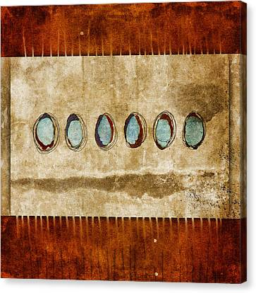 Six Turquoise Moons Canvas Print by Carol Leigh