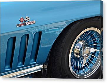 Sixty Six Corvette Roadster Canvas Print by Frozen in Time Fine Art Photography