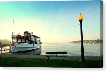 Skaneateles Lake Dinner Cruise Canvas Print by Michael Carter