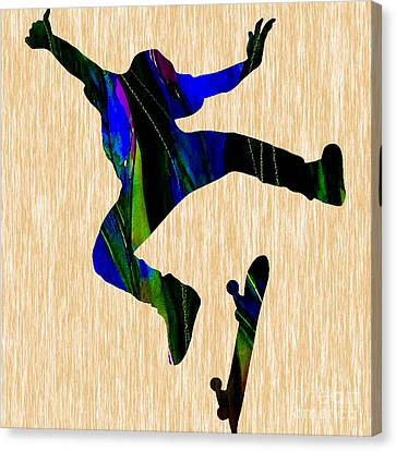 Skateboard Canvas Print by Marvin Blaine