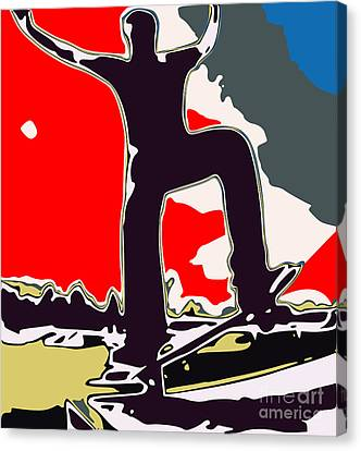 Skateboarder Canvas Print by Chris Butler