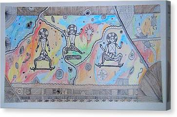 Skaters From The Past Canvas Print by Domantas Cibas