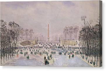 Skating In The Tuileries Canvas Print by Theodore Jung
