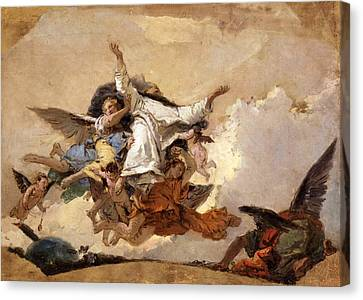 Sketch For The Glory Of Saint Dominic Canvas Print by Giovanni Battista Tiepolo