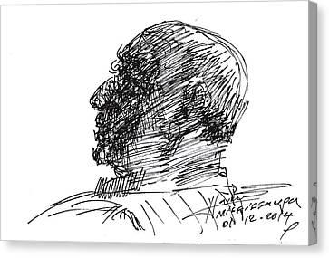 Sketch Canvas Print by Ylli Haruni