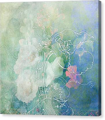 Sketchflowers - Hollyhock Canvas Print by Aimee Stewart