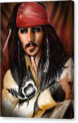 Sketching A Pirate... Canvas Print by Alessandro Della Pietra