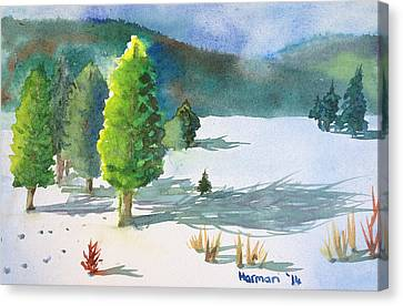 Ski Season Canvas Print by Melanie Harman