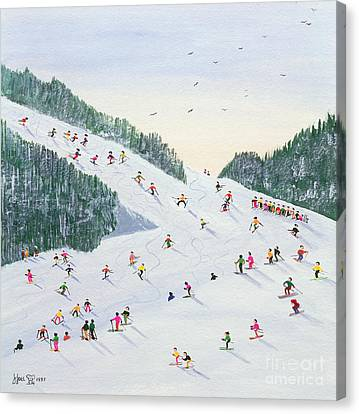 Ski Vening Canvas Print by Judy Joel