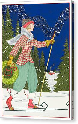Ski Vogue Canvas Print by Lynn Bywaters