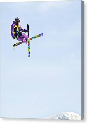 Ski X Canvas Print by Theresa Tahara