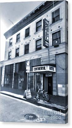 Skid Row Hotel Canvas Print by Gregory Dyer