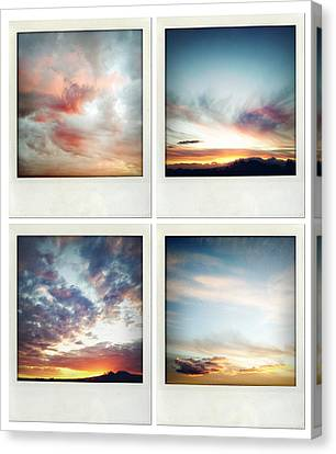 Skies Canvas Print by Les Cunliffe