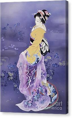 Skiyu Purple Robe Canvas Print by Haruyo Morita