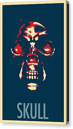 Skull In Hope Canvas Print by Rob Hans