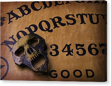 Skull Planchette Canvas Print by Garry Gay