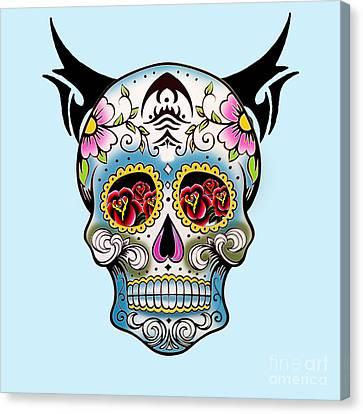 Skull Pop Art  Canvas Print by Mark Ashkenazi