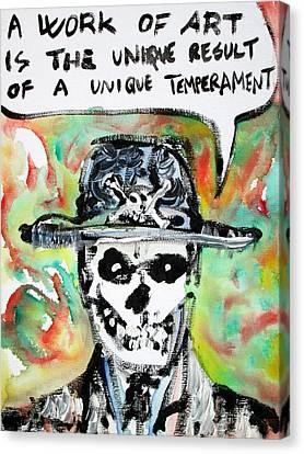 Skull Quoting Oscar Wilde.1 Canvas Print by Fabrizio Cassetta