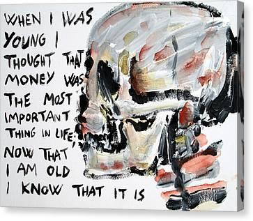 Skull Quoting Oscar Wilde.3 Canvas Print by Fabrizio Cassetta