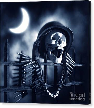Skull Canvas Print by Tony Cordoza