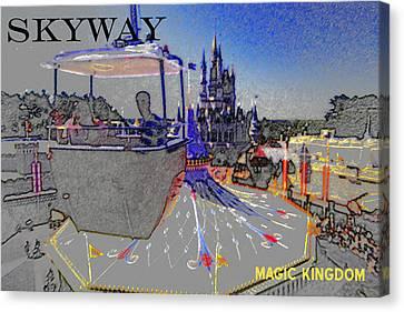 Skway Magic Kingdom Canvas Print by David Lee Thompson