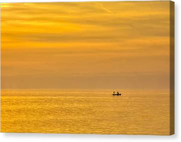 Sky And Water Canvas Print by Marvin Spates