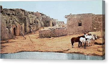 Sky City Acoma Pueblo Canvas Print by William Henry Jackson
