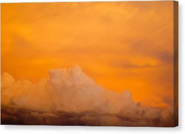 Sky Fire 001 Canvas Print by Tony Grider
