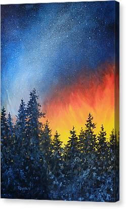 Sky Fire Canvas Print by Richard De Wolfe