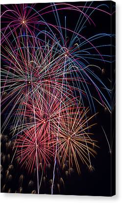 Sky Full Of Fireworks Canvas Print by Garry Gay
