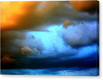 Sky In Peril Canvas Print by Andrea Lawrence