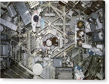 Skylab 4 Crew Canvas Print by Nasa