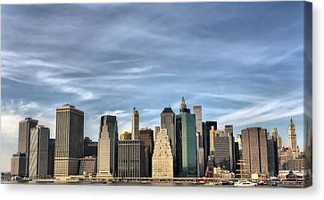 Skyline Of Ny Canvas Print by Pier Giorgio Mariani