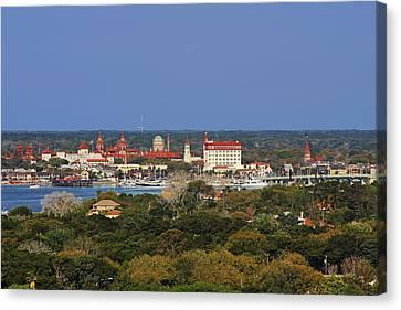 Skyline Of St Augustine Florida Canvas Print by Christine Till
