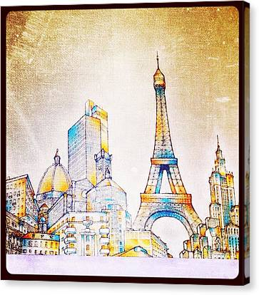 Skyline Of The World Canvas Print by Natasha Marco