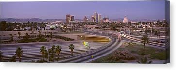 Skyline Phoenix Az Usa Canvas Print by Panoramic Images