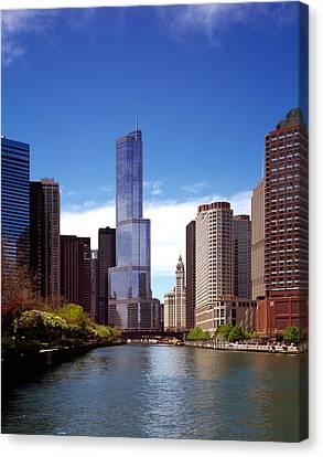 Skyscraper In A City, Trump Tower Canvas Print by Panoramic Images