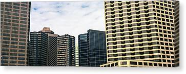 Skyscrapers In A City, Hyatt Regency Canvas Print by Panoramic Images