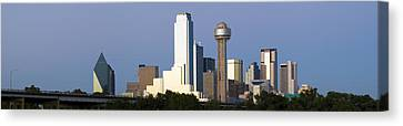 Skyscrapers In A City, Reunion Tower Canvas Print by Panoramic Images
