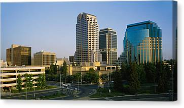 Skyscrapers In A City, Sacramento Canvas Print by Panoramic Images